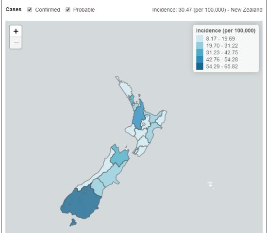 New Zealand interactiv map 6th May 2020