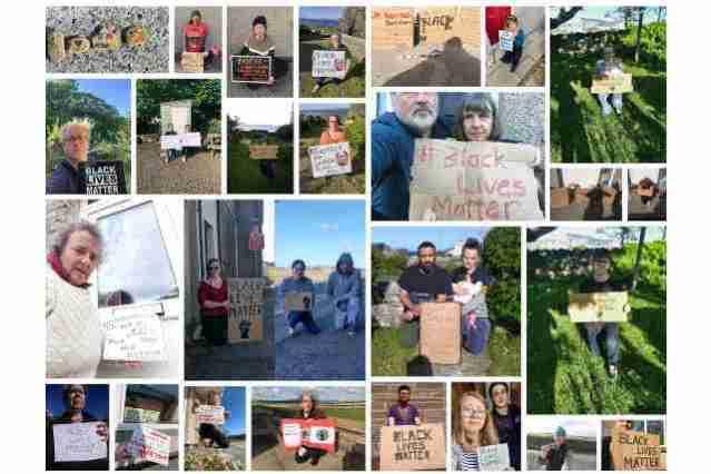 Collage Black Lives Matter Orkney 10th June 2020