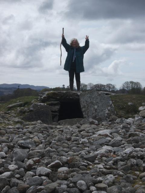 Bernie Bell standing at Kilmartin Glen
