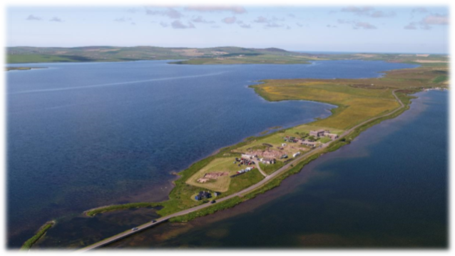 Overall view of the Ness of Brodgar. Photo Dr Scott Pike