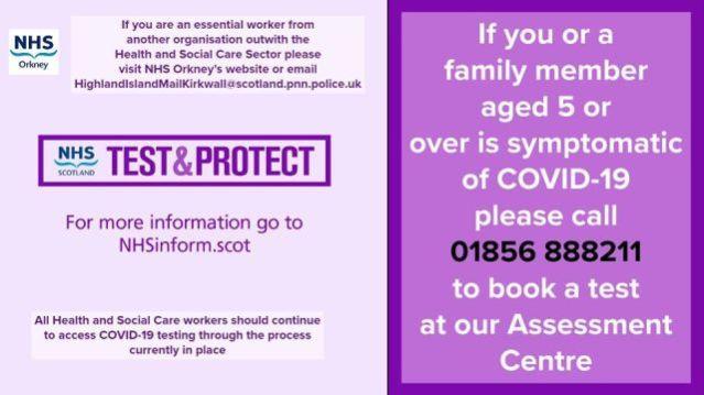 NHS Orkney test phone number